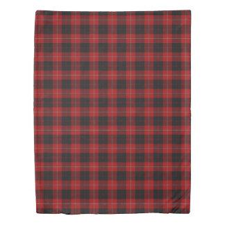 Clan Cunningham Scottish Accents Red Black Tartan Duvet Cover