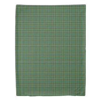 Clan Currie Scottish Accents Green Tartan Duvet Cover