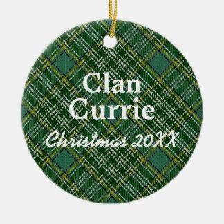 Clan Currie Scottish Tartan Ceramic Ornament