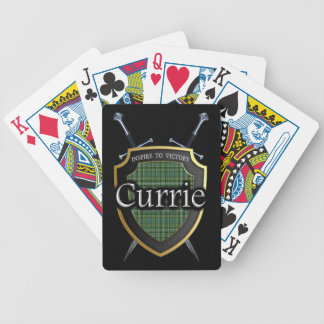 Clan Currie Tartan Shield & Swords Bicycle Playing Cards