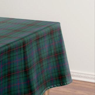 Clan Davidson Dark Green and Blue Scottish Tartan Tablecloth