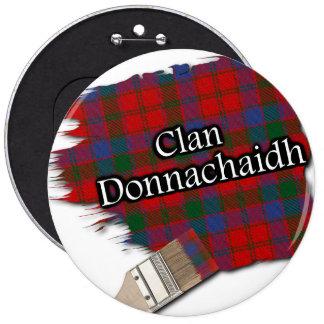 Clan Donnachaidh Tartan Paint Brush 6 Inch Round Button