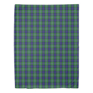 Clan Douglas Scottish Accents Blue Green Tartan Duvet Cover