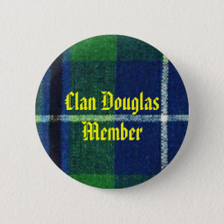 Clan Douglas Tartan Badge  Member 2 Inch Round Button