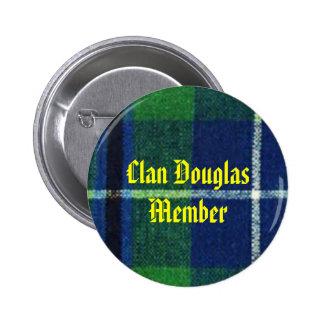 Clan Douglas Tartan Badge  Member 2 Inch Round Button