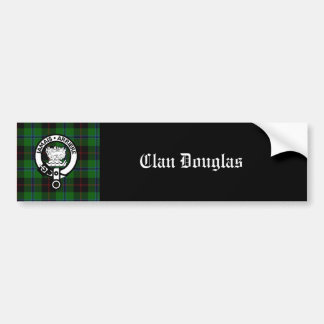 Clan Douglas Tartan Crest Bumper Sticker
