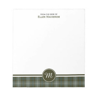 Clan Douglas Weathered Tartan Monogram Notepad