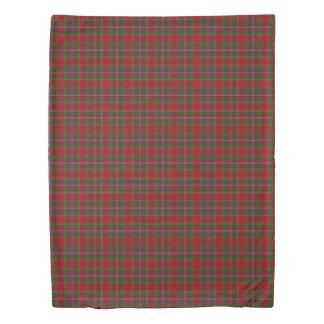Clan Drummond Scottish Accents Red Green Tartan Duvet Cover