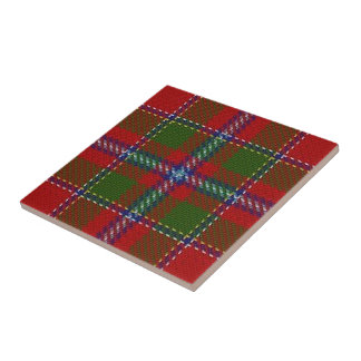 Clan Drummond Scottish Expressions Red Tartan Tile