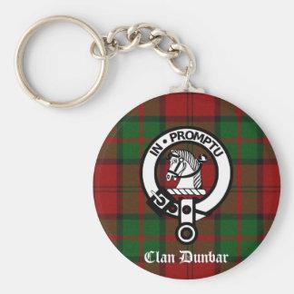 Clan Dunbar Tartan & Crest Badge Keychain