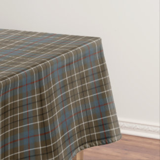Clan Duncan Brown Weathered Scottish Tartan Tablecloth