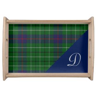 Clan Duncan Plaid Monogram Serving Tray