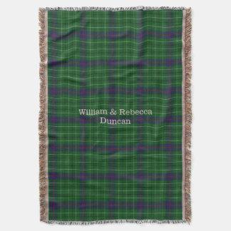 Clan Duncan Tartan Plaid Custom Throw Blanket