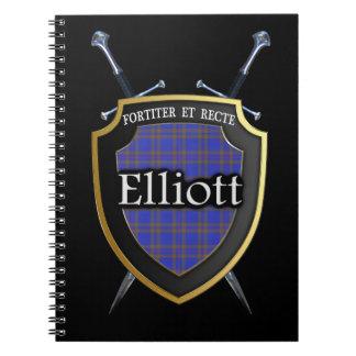 Clan Elliott Tartan Shield & Swords Notebooks