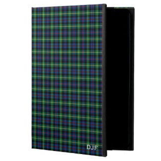 Clan Farquharson Blue and Green Tartan Monogram Powis iPad Air 2 Case
