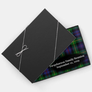 Clan Farquharson Tartan Plaid Family Reunion Guest Book