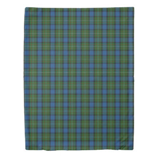 Clan Fergusson Ferguson Scottish Green Blue Tartan Duvet Cover