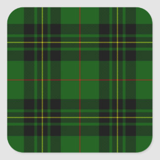 Clan Forbes Tartan Square Sticker