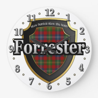 Clan Forrester Tartan Scottish Dream Clock