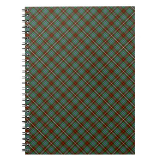 Clan Fraser Brown and Green Hunting Tartan Notebooks
