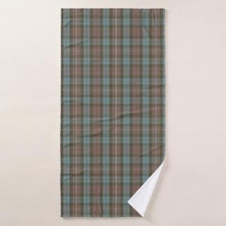 Clan Fraser Hunting Tartan Weathered Bath Towel