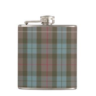 Clan Fraser Hunting Tartan Weathered Hip Flask