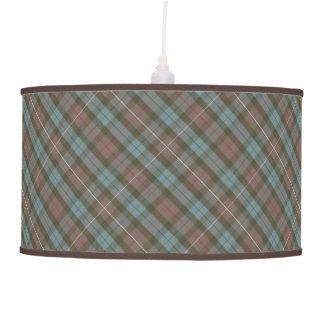 Clan Fraser Hunting Tartan Weathered Pendant Lamp