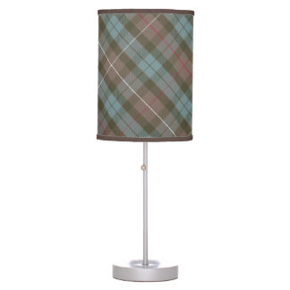 Clan Fraser Hunting Tartan Weathered - Rotated Table Lamp