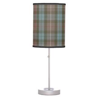 Clan Fraser Hunting Tartan Weathered Table Lamp