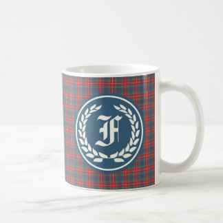 Clan Fraser of Lovat Ancient Tartan Monogram Coffee Mug