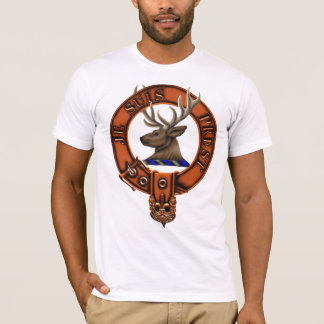Clan Fraser of Lovat Family Crest and Targe T-Shirt