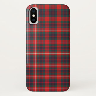 Clan Fraser of Lovat Red and Navy Blue Tartan iPhone X Case