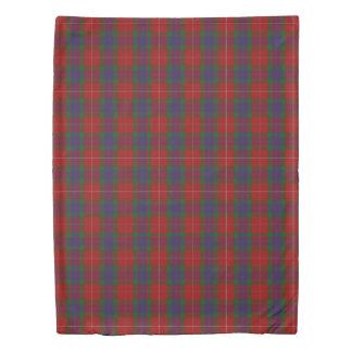 Clan Fraser Scottish Accents Red Blue Green Tartan Duvet Cover