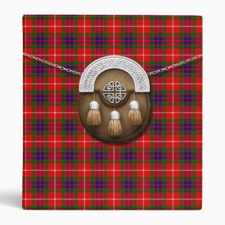 Clan Fraser Tartan And Sporran 3 Ring Binder