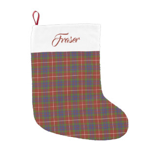Clan Fraser Tartan Stocking