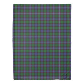 Clan Galbraith Scottish Accents Blue Green Tartan Duvet Cover
