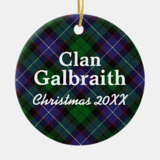 Clan Galbraith Scottish Tartan Ceramic Ornament