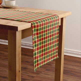 Clan Gibbs and Gibson Colorful Scottish Tartan Short Table Runner