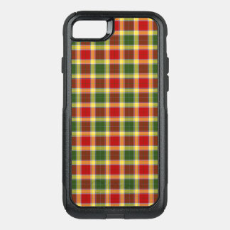 Clan Gibbs Tartan Bright Red and Yellow Plaid OtterBox Commuter iPhone 7 Case