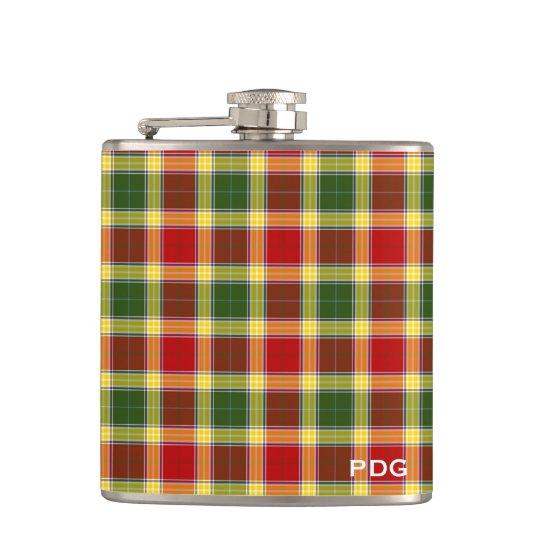 Clan Gibbs Tartan Monogram Hip Flask