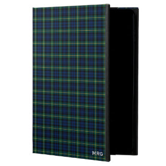 Clan Gordon Blue and Green Clan Tartan Monogram Powis iPad Air 2 Case