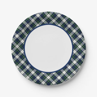 Clan Gordon Dress Tartan Border 7 Inch Paper Plate