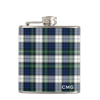 Clan Gordon Dress Tartan Monogrammed Hip Flask