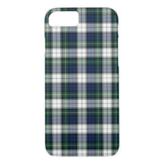 Clan Gordon Dress Tartan Navy Blue and White Plaid iPhone 8/7 Case