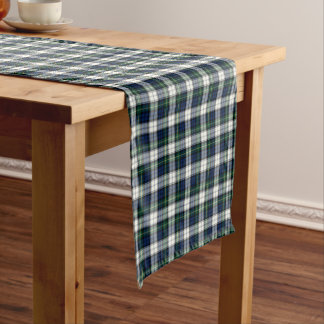 Clan Gordon Royal Blue and White Dress Tartan Short Table Runner