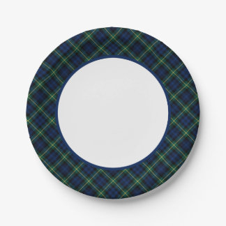 Clan Gordon Tartan Border 7 Inch Paper Plate