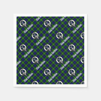 Clan Gordon Tartan Crest Disposable Napkin