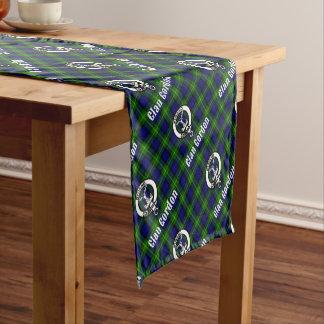 Clan Gordon Tartan Crest Short Table Runner