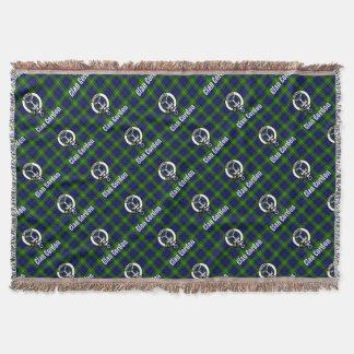 Clan Gordon Tartan Crest Throw Blanket