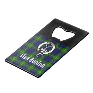 Clan Gordon Tartan Crest Wallet Bottle Opener